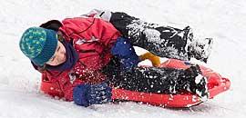 Eenouder wintersport